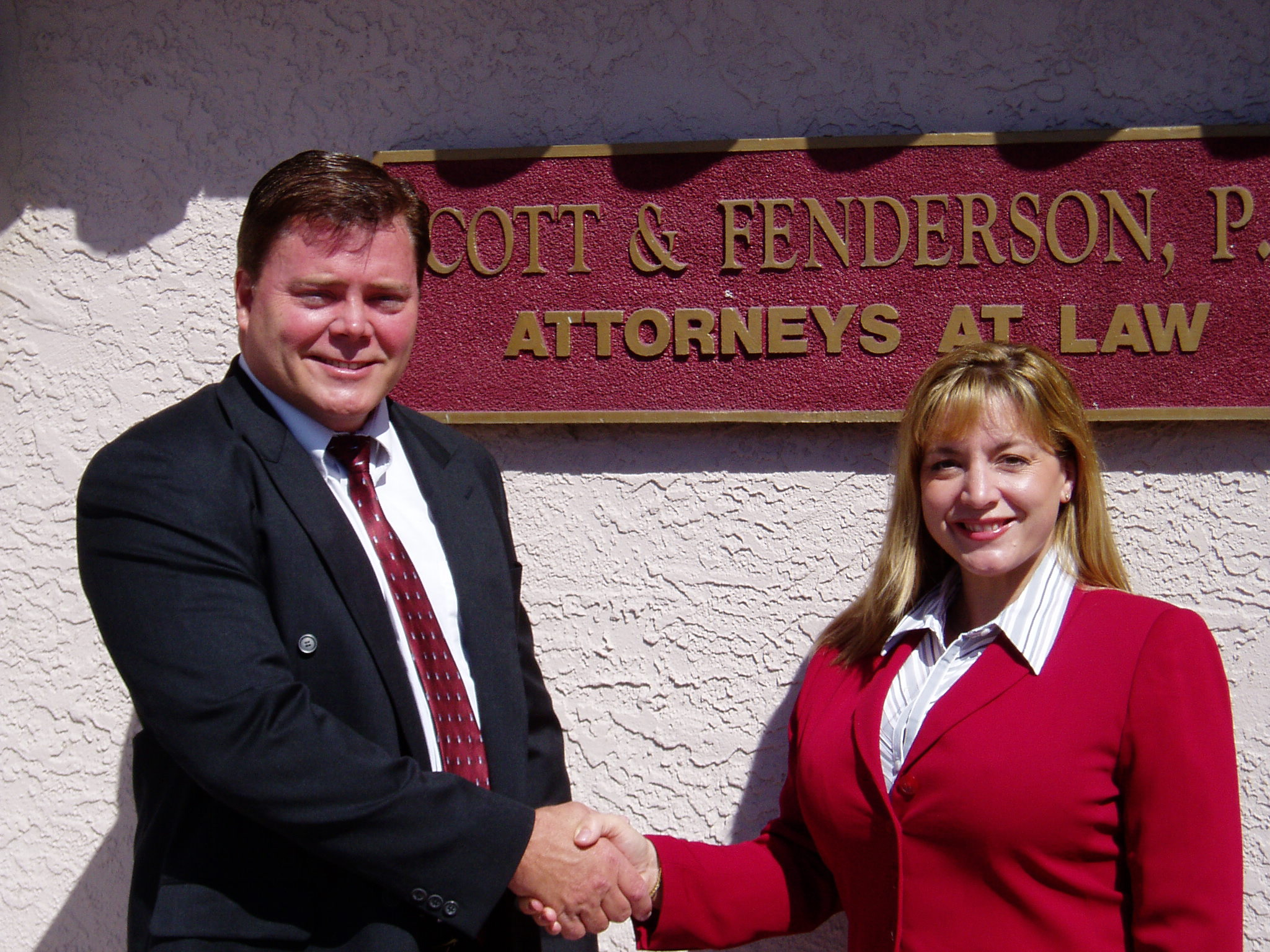 Charles Scott and Katherine Fenderson Scott  celebrate the 9th anniversary of Scott and Fenderson P.A.