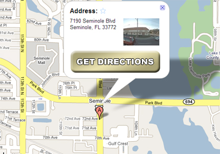 Map to the Seminole Office of Scott and Fenderson, PLLC
