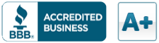 We proudly maintain an A+ Rating with the Better Business Bureau